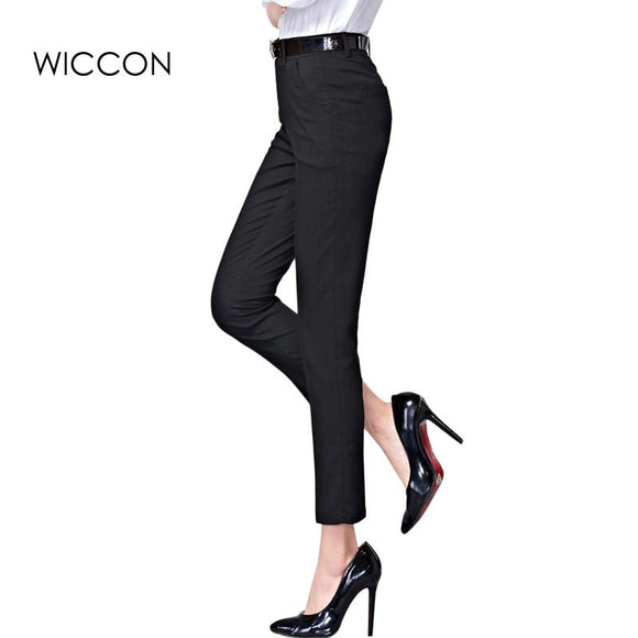 Spring New Fashion High Waist Pencil Pants for Women Office OL Work Wear Skinny Pants Female Vintage Trousers Pantalon Femme