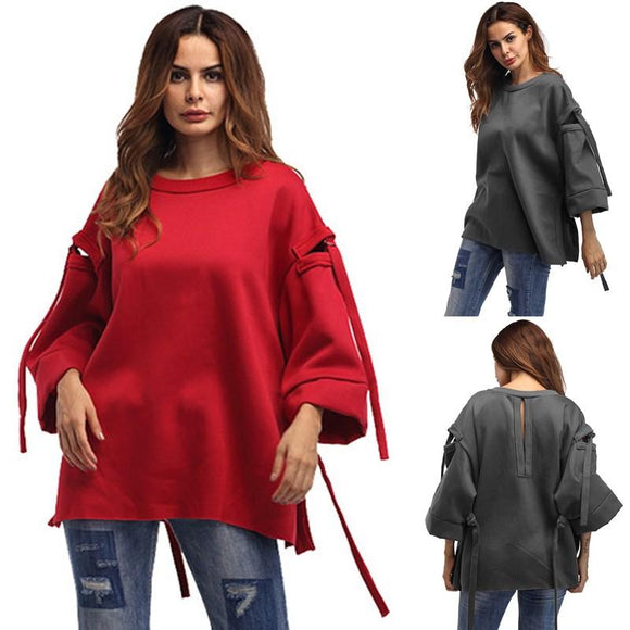 Women Fleece Hoodies 2018 Winter Velvet Sweatshirt 9/10 Sleeve Casual Hooded Hoodie Pullover Baggy Loose Tops Plus Size 5XL