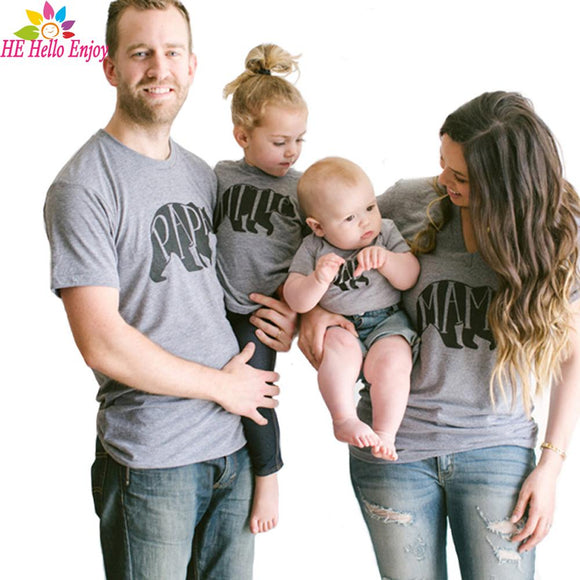 c24698222a5f HEHello Enjoy Mother Father Baby Matching T-shirt Summer Family look Clothes  Matching Mom And