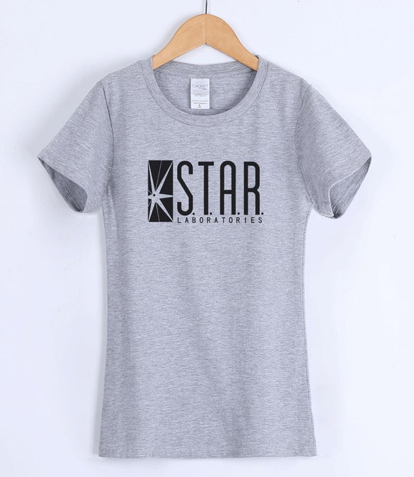 STAR S.T.A.R.labs women's T-shirts 2018 short sleeve summer cotton t shirt lady casual brand clothing female T-shirt top kpop