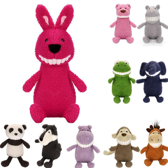 Cartoon Smiling Toothy Animal Stuffed Doll Plush Toys Birthday Gift