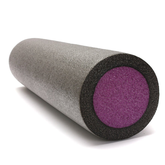 Purple Foam Roller Muscle Trigger Yoga Pilates Massage Gym Physio Back Exercise 24x6''