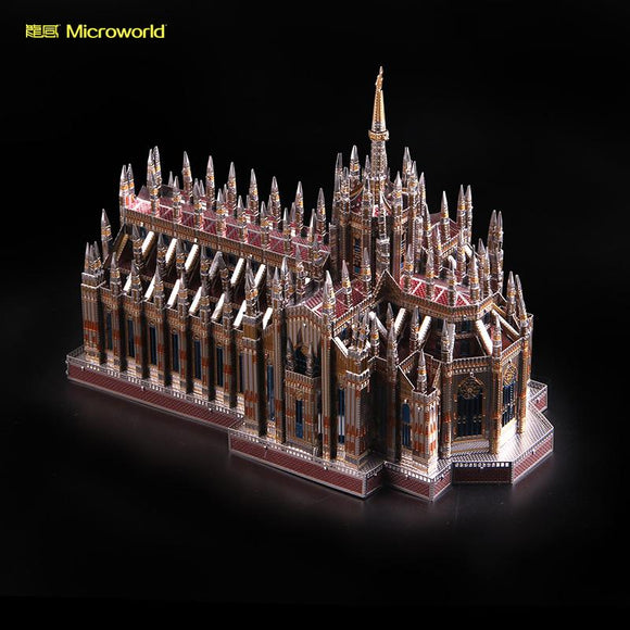 2018 Microworld 3D Metal Nano Puzzle Milan Cathedral Duomo di Milano Build Model Kits J45 DIY 3D Laser Cut Jigsaw Toys For Audit