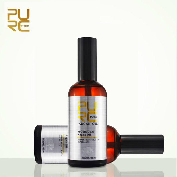 PURC Moroccan Argan Oil for Hair Care and Protects Damaged Hair for Moisture Hair 100ml Hair Salon Products PURE