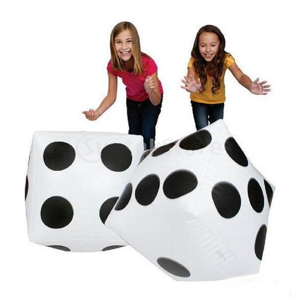 2pcs Jumbo Inflatable Dice Casino Party Game Kids Learning Addition and Multiplication Outdoor Group Activities 30*35cm