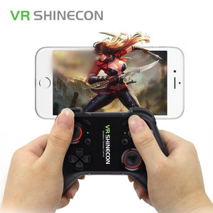 VR SHINECON Bluetooth Wireless VR Glasses Gamepad Handle Controller For 3D VR Glasses Joystick PC Android IOS Smartphone SC-C08