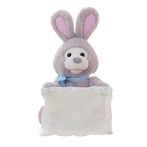 Electronic Rabbit Play Hide & Seek Lovely Cartoon Stuffed Kids Birthday Gift 30cm Cute Music Plush Dolls Toy