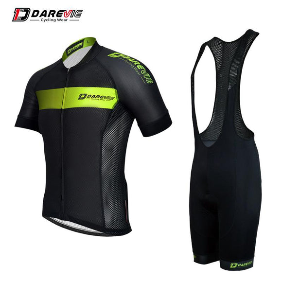 Darevie pro ride uniforms quick dry breathable short sleeve bib shorts cycling wear suit