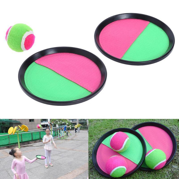 1 Set Children Sticky Ball Toys Indoor&Outdoor Fun Sports Parent-child Interactive Throw&Catch Sticky Target Racket Ball Games
