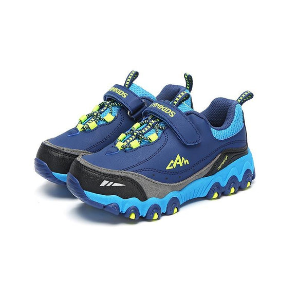 Kids Sneaker Boys Hiking Shoes Anti-slippery Children's Running Shoes Cow Split Rubber Boys Shoes Hook & Loop Toddler Footwear