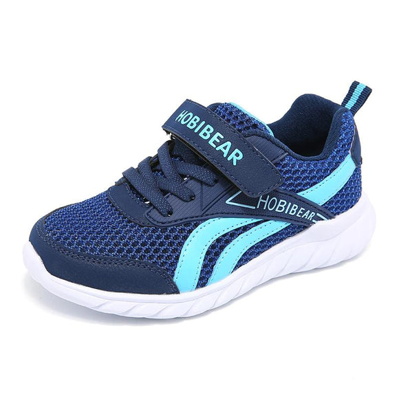 Breathable Air Mesh Children Sneaker For Boys Summer Kids Casual Shoes 2018 New Band Fashion Hook & Loop Toddler Footwear Blue