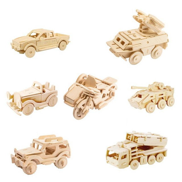 Robotime Toys Hobbies 3D Wooden Puzzle Games Popular Children Educational Baby & Toddler Toys Model Building Kits Vehicle Cars