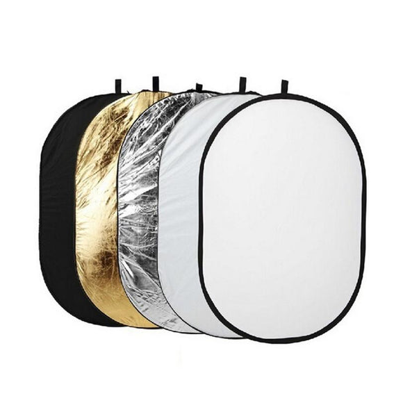 Godox 150*200cm 5 in 1 Portable Photography Studio Multi Photo Collapsible Light Reflector Oval for Flash Lighting