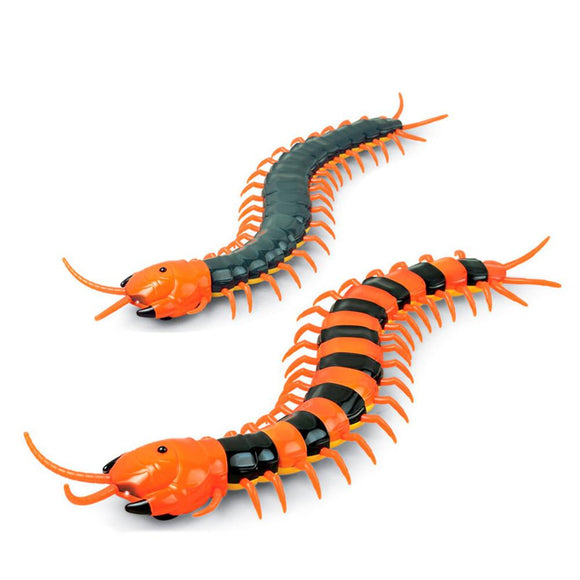 1PCS Creative Funny Infrared Remote Control USB RC Centipede Scolopendra Creepy-crawly Toy Stress Relief Vent Tricky Toys Gag Gift