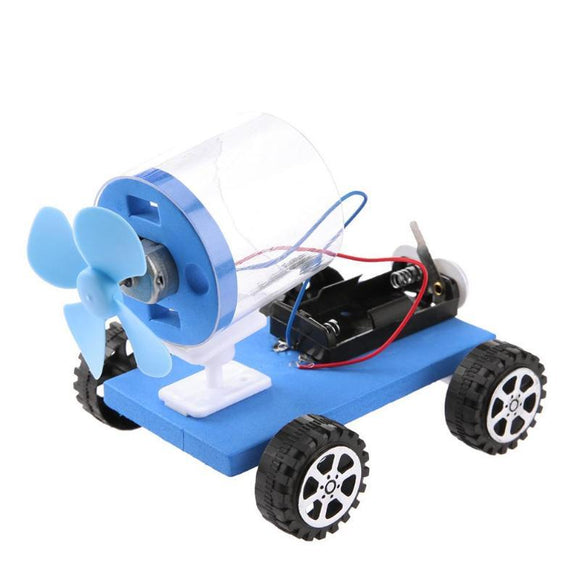 Children DIY Material Disassembling Car Universial Aerodynamics Vehicle Toys Car Interactive Assembled Educational Science Toys