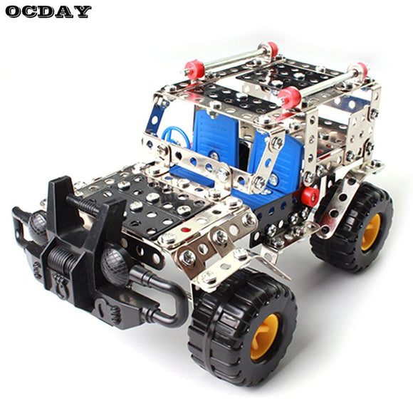 262pcs Metal Model Puzzle Kits Cross-country Vehicle Toy Assembly 3D Building Construct Kit DIY Blocks Children Educational Toy