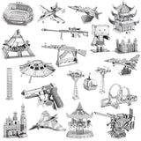 3D Metal Model Puzzles DIY Puzzle Jigsaw Kit For Adults Children Educational Collection Toys church
