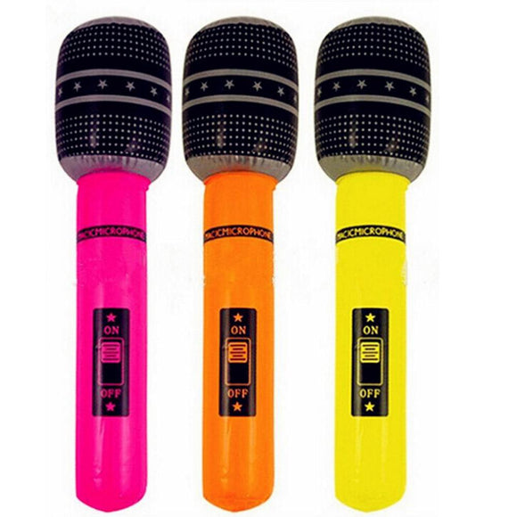 New 1Pc Funny Inflatable Microphone Toy Blow Up Singing Birthday Disco Party Balloon Toys Kids Gift Party Supplies Random Color