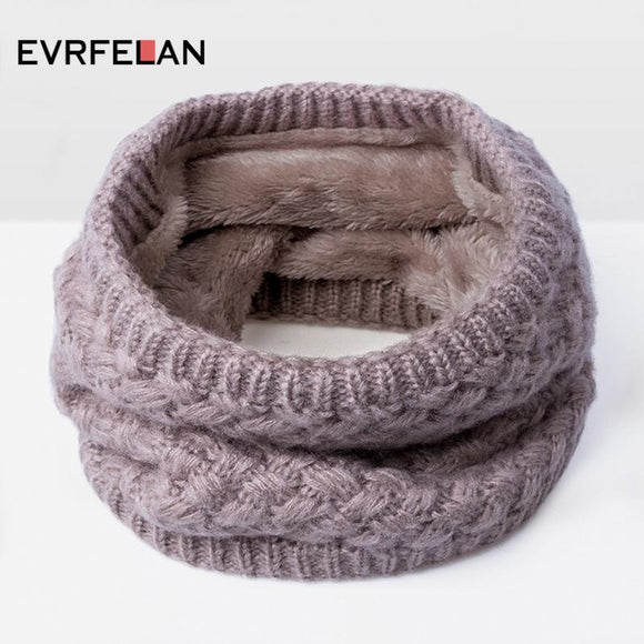 New 2018 Fashion Brand Scarf For Women Winter Knitted Scarves Cotton Warm Women's  Neck Scarf Ring Men Loop Scarf Unisex