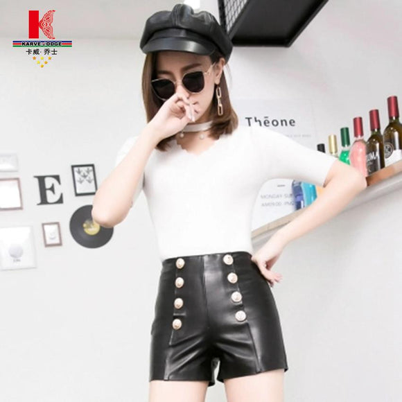 Skinny Trousers Women Pencil Casual Leather Autumn Winter Women Spring Summer High Waist Sweet Trousers Loose Shorts For Women