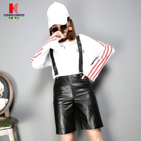 Female Winter Shorts Women Plus Size Fashion Casual 2017 Straight Winter Casual Zipper High Waist Leather Short Women Trousers