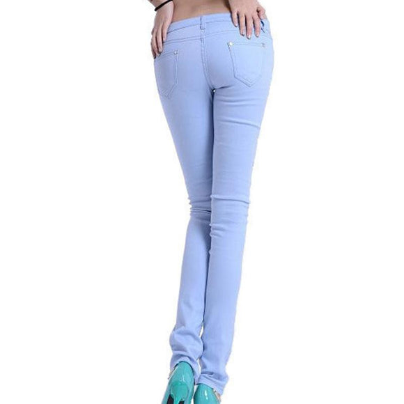 53ff4ad0d38 Women trousers Plus size Candy Colored Skinny Leggings Stretch Pencil Pants  casual pants jeans women 2018