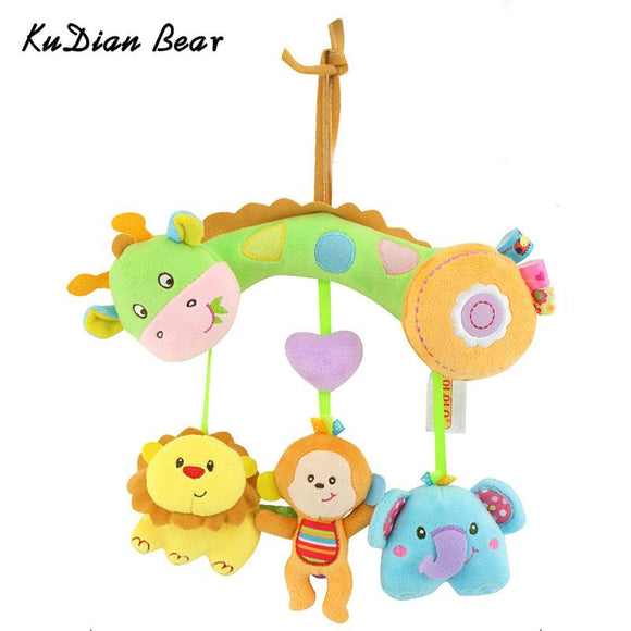Soft Baby Toys 0-12 months Educational Animal Toys Baby Mobile On The Bed Stuffed Doll Rattle for Children Fun Toy  BYC185 PT49