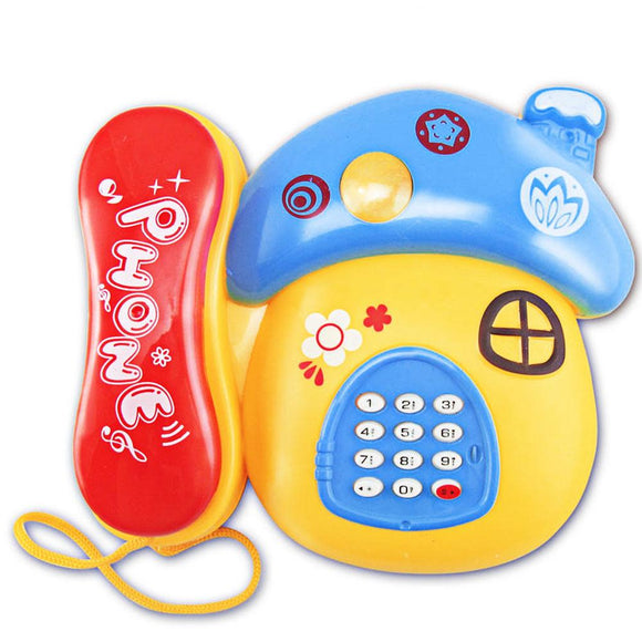 1 Pc Newest Kids Colorful Fun Music Phone Toy Basics Chatter Telephone Toys Toy Phone Mushrooms Baby Mobile Kids Toys Gift