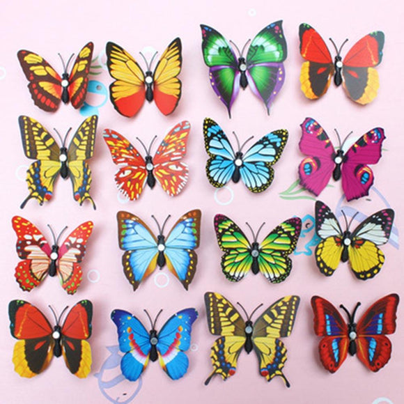 1 pcs Magnetic Simulation Butterfly Fishing Toys Fake Butterfly Children 's Educational Toy