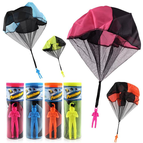 Hand Throwing mini play parachute soldier toy Kids Outdoor sports Educational Toys for Children Boys Girls Gift