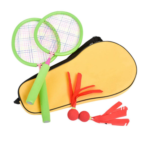 Badminton Toy Set Children Badminton Rackets Sports Toy Movement Ability Developing Fitness Racket Sports Outdoor Random color