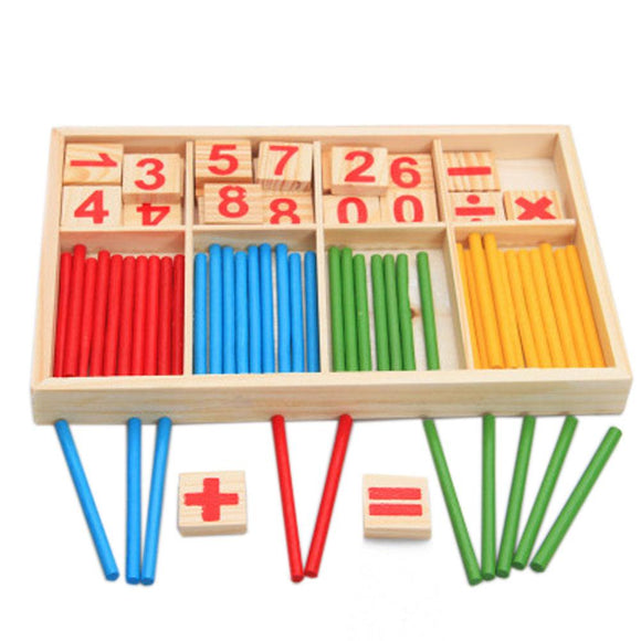 1pc Baby Toys Counting Sticks Education Wooden Toys Building Intelligence Blocks  Mathematical Wooden Box Chil Gift