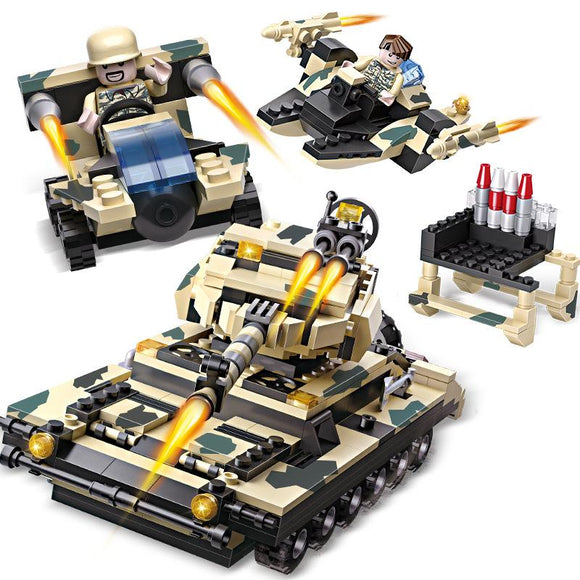 8 Kinds The military Model Of Special Warfare Building Blocks Children Educational Toy Intelligence Development Toys