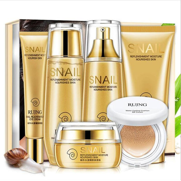 Snail Tender Skin makeup set,Fashion Gift box cosmetic kit,Moist Concealer BB Cream,Liquid Fundation Cream,Air Cushion Cream