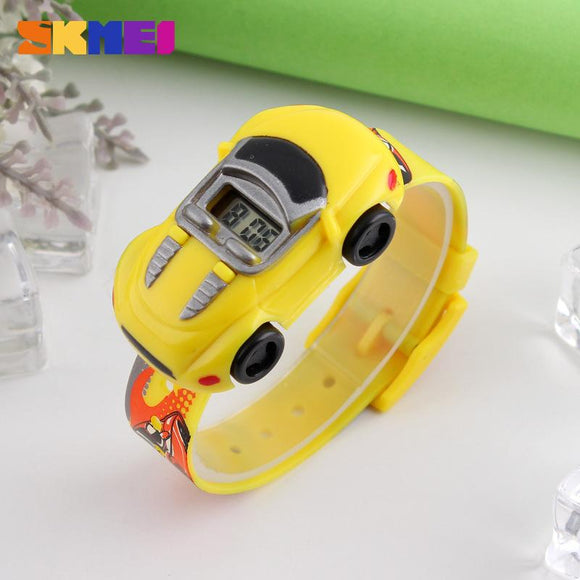 Child Cute Electronic Watch Male Creative Car Shape Childen's Watch Children Gift Toy Wrist Watches