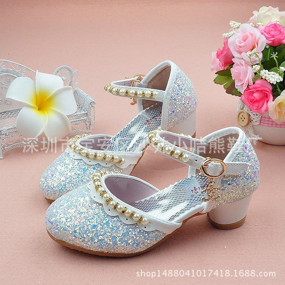 Children's New  Sandals  Toddler Shoes Wholesale Summer Fish Head High-heeled Princess Shoes Female Fashion Footwear