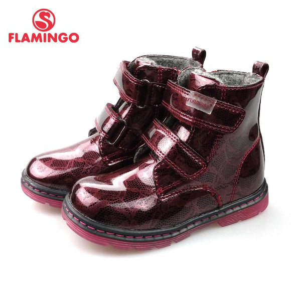 FLAMINGO Brand Autumn Boots European Style Keep Warm Children Toddler Sneakers First Walk Fashion Shoes for Girl 82B-FLY-0897