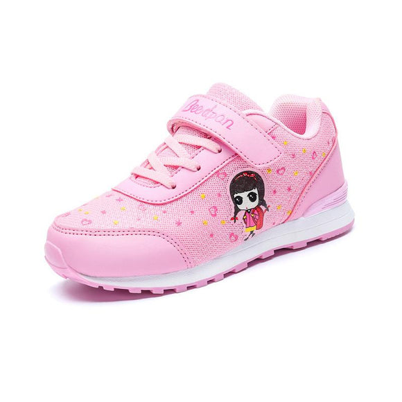 Cute Kids Sneaker For Girls Flat Cartoon Girls Shoes Anti-slippery Children's Shoes For Girls Breathable Toddler Shoes Summer