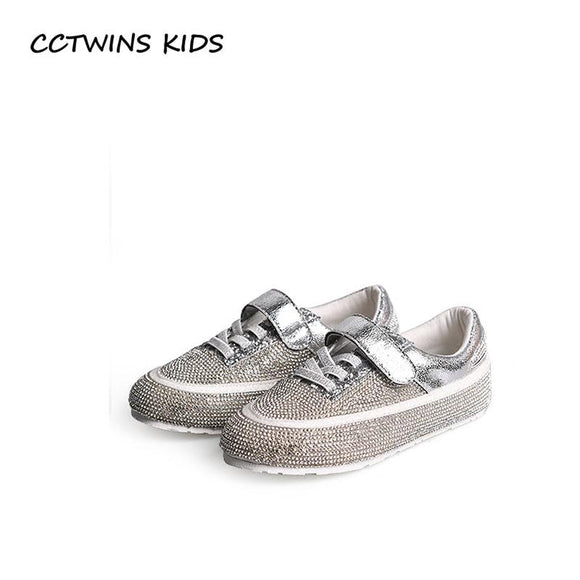 CCTWINS KIDS 2018 Summer Girl Fashion Casual Trainer Children Rhinestone Shoe Baby Brand Sport Sneaker Toddler FC2279