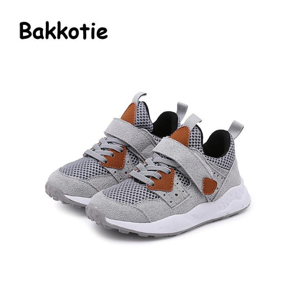 Bakkotie New Spring Fashion Brand Child Boy Sport Shoe Baby Girl Sneaker Toddler Leisure Trainer Mesh Breathable Kid Runing Shoe