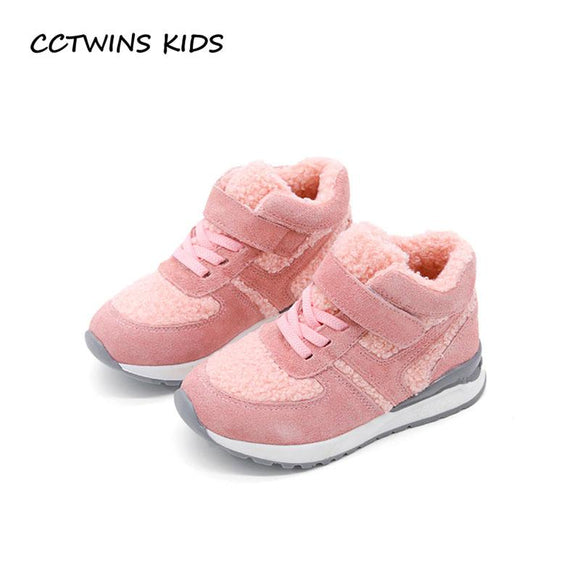 CCTWINS KIDS 2017 Winter Pink Baby Girl Casual Shoe Children Fashion Gray Trainer Toddler Brand Sport Sneaker Boy F1997