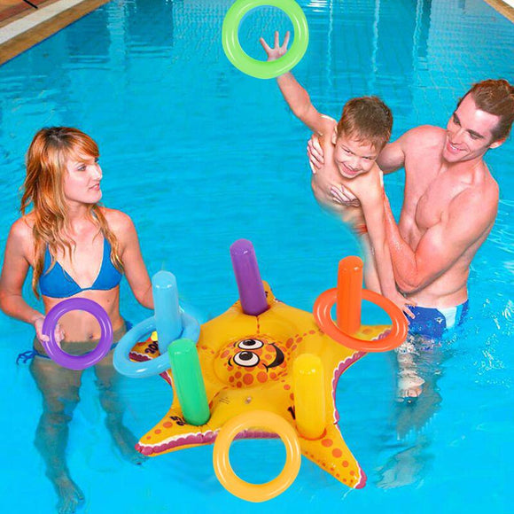 Funny Inflatable Toss Game Ring for Children Outdoor Sport PVC Pool Floating Toys for Kid Inflatable Water Fun Playing Pool Toys