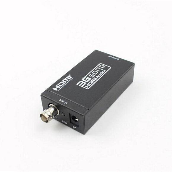 SDI To HDMI Converter Adapter Mini HD 3G Computer Cables & Connec to Support HD-SDI /3G-SDI Signals Showing in HDMI Monitor Free