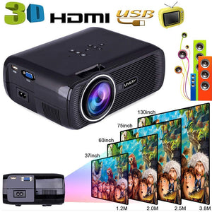 New Hot Portable Wifi Projectors 1080P Android4.4 HD 7000Lumens Movie Media Player Home Theater Projector For Video Game TV 8  D