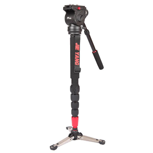 DHL PROGO JIEYANG JY0506 Aluminum Alloy Professional Monopod For Video & Camera / Tripod Head & Carry Bag wholesale