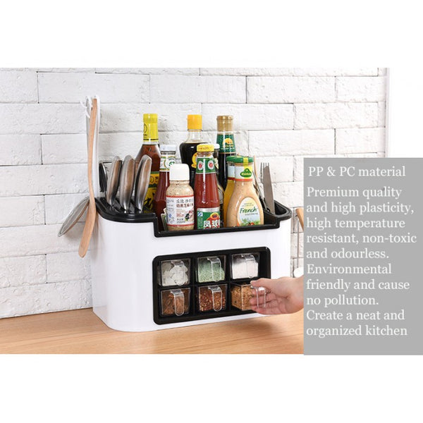 All in 1 Kitchen Organizer with Spice Rack