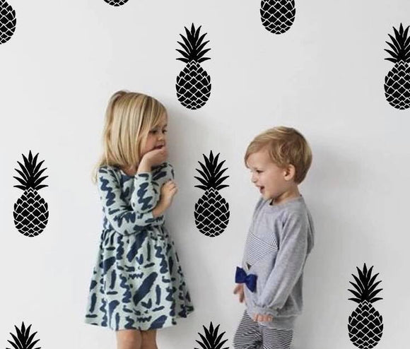 Pineapple Fruit Wall Decor Sticker Set for Bedroom