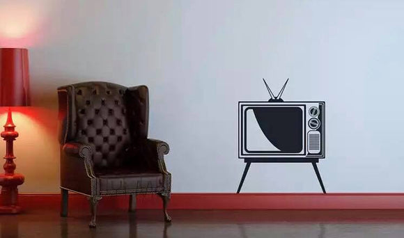 Retro Television Wall Decal Sticker Set