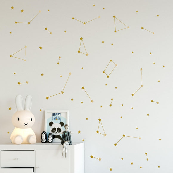 Constellation Stars Wall Decal for Bedroom