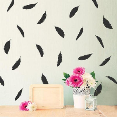 Feather Wall Sticker Decal Set